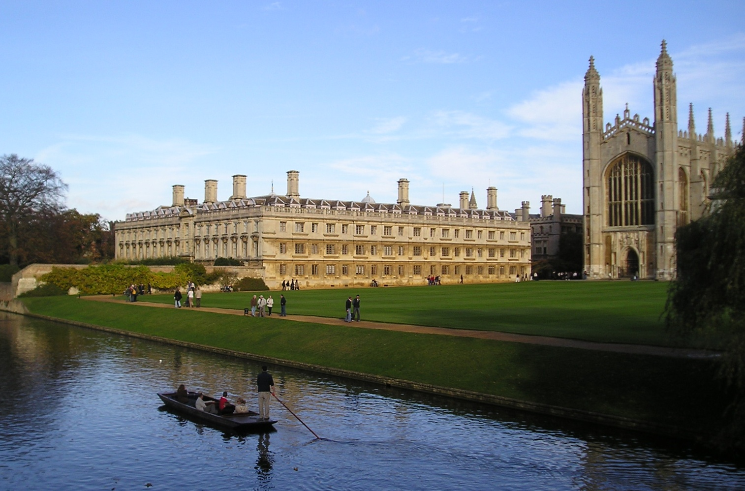 Cambridge Clare College And Kings Chapel