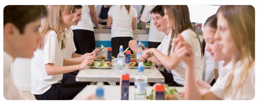 school dining room in england